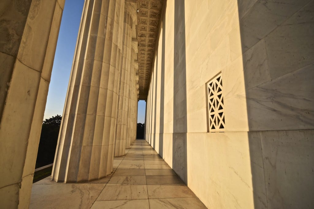 Back of the Lincoln Memorial