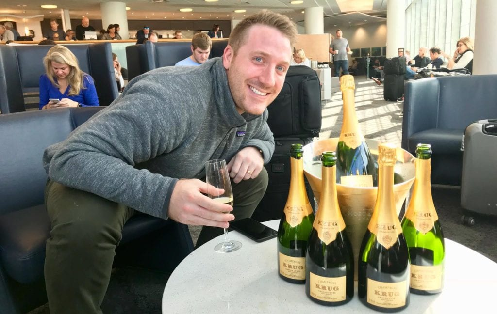 buy champagne with skymiles krug
