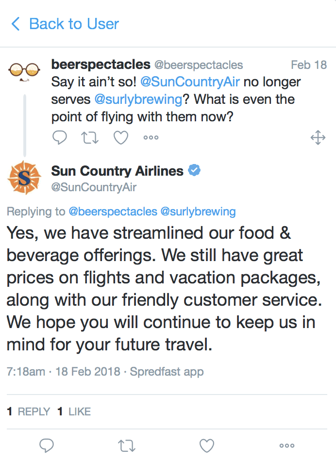 Sun Country Removes Surly