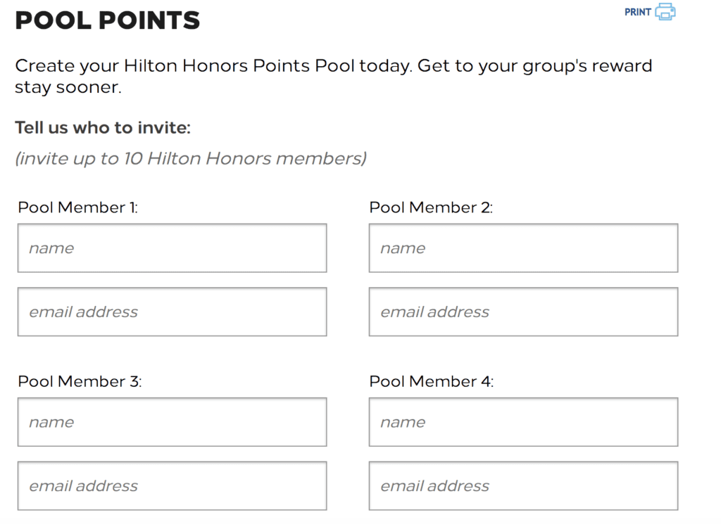 Hilton's Points Pooling