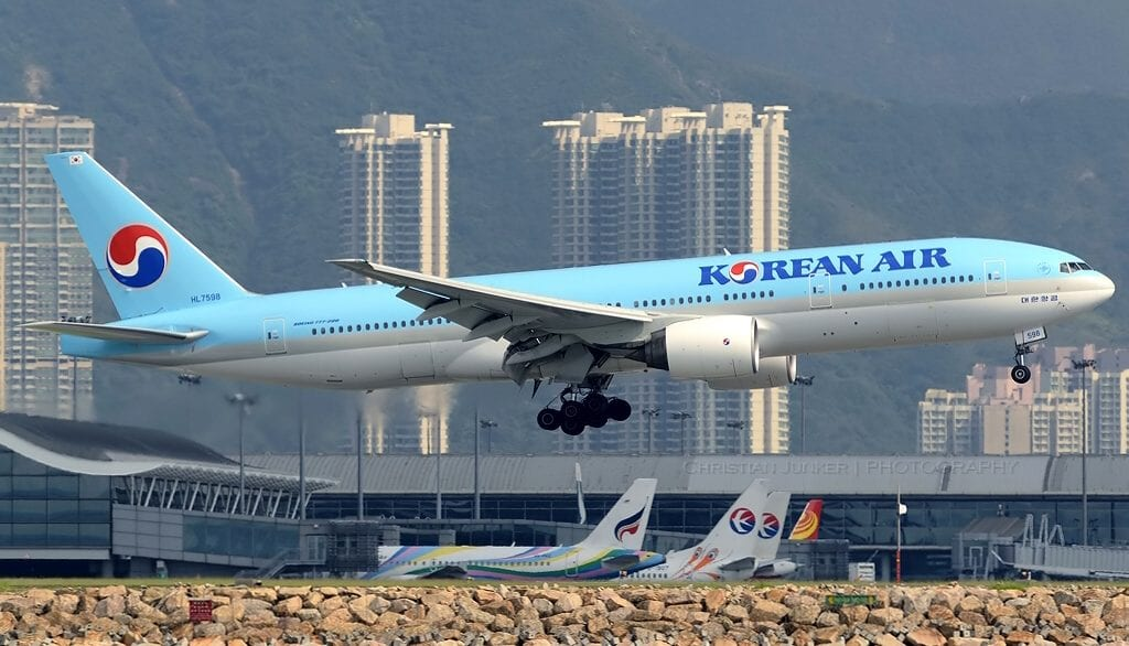 Chase losing Korean Air