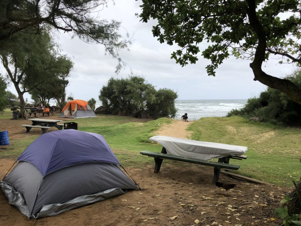 Camping on Kauai