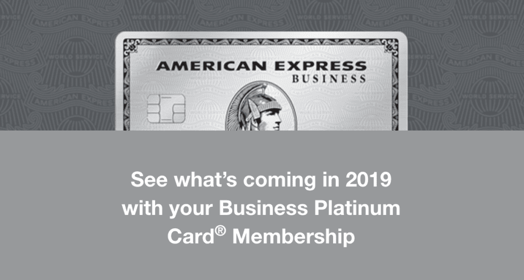 Business Platinum Card New Benefits