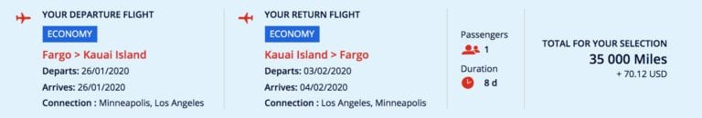air france hawaii redeem amex points