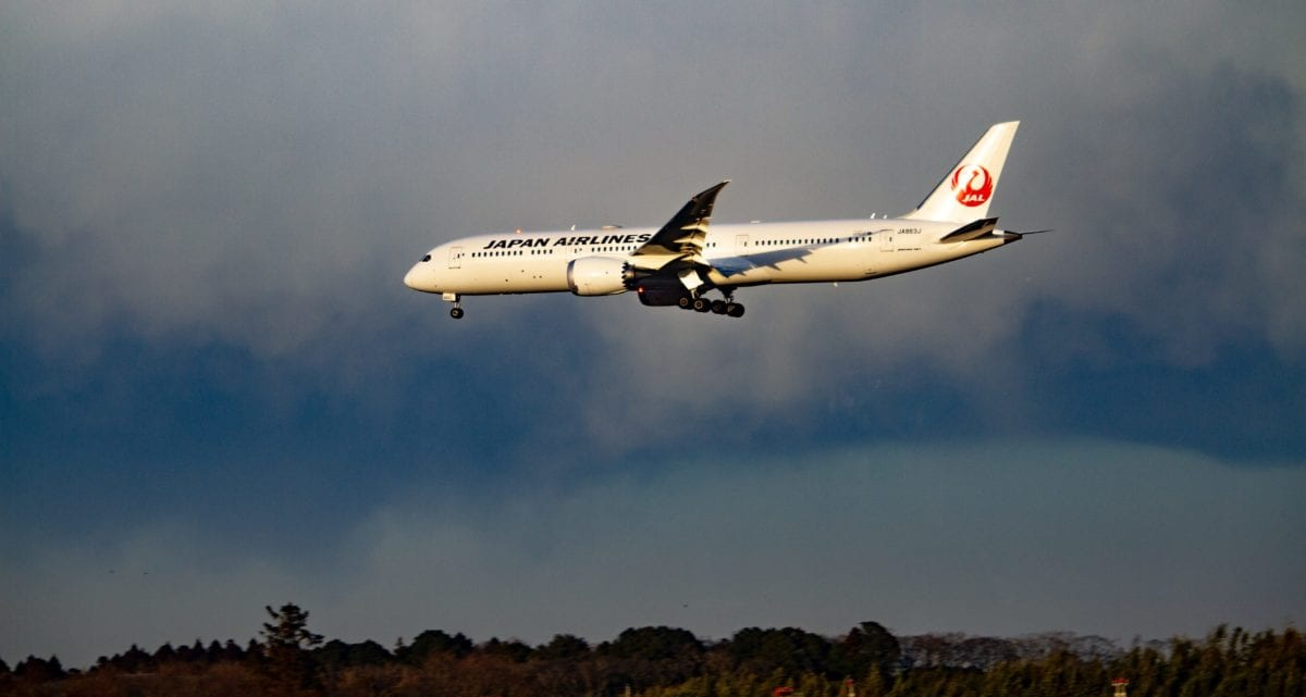 Japan Airlines Drinking