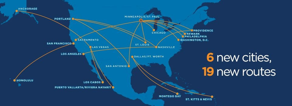 Sun Country Routes
