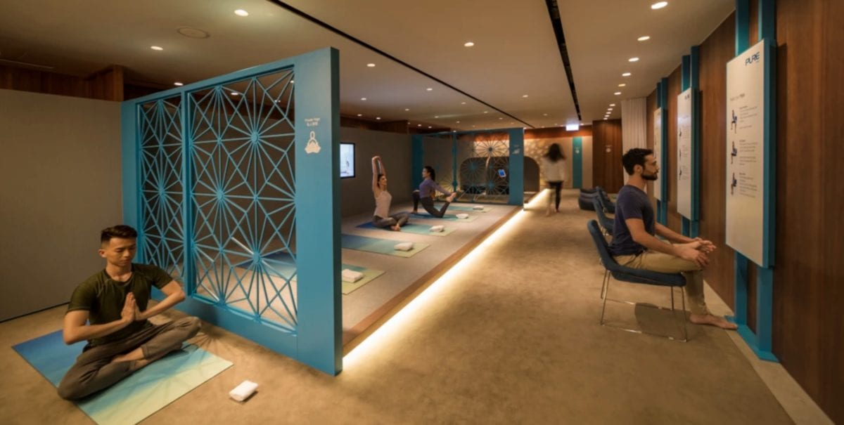 Cathay Pacific Lounge Yoga