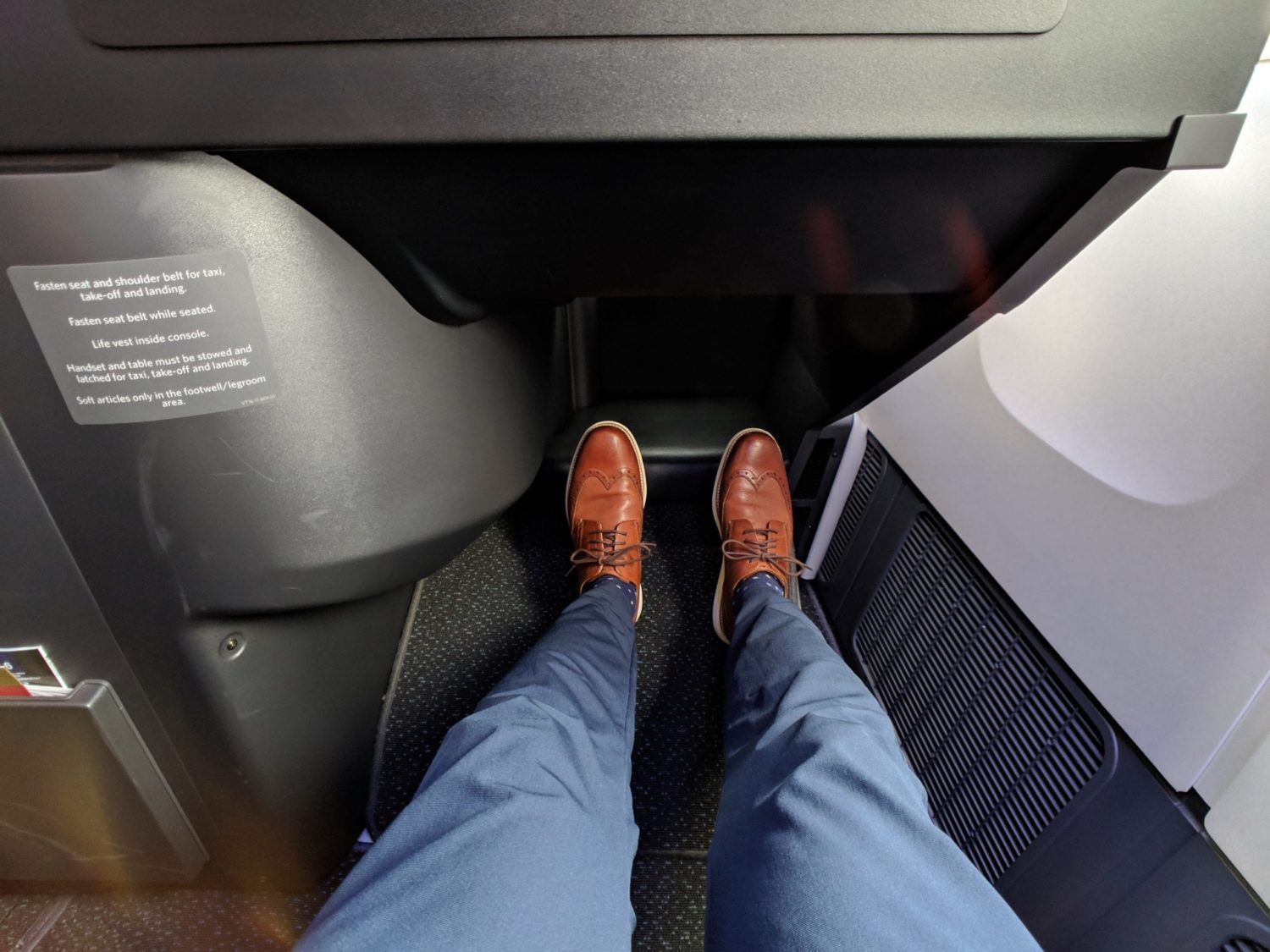 Delta One Suites review legroom