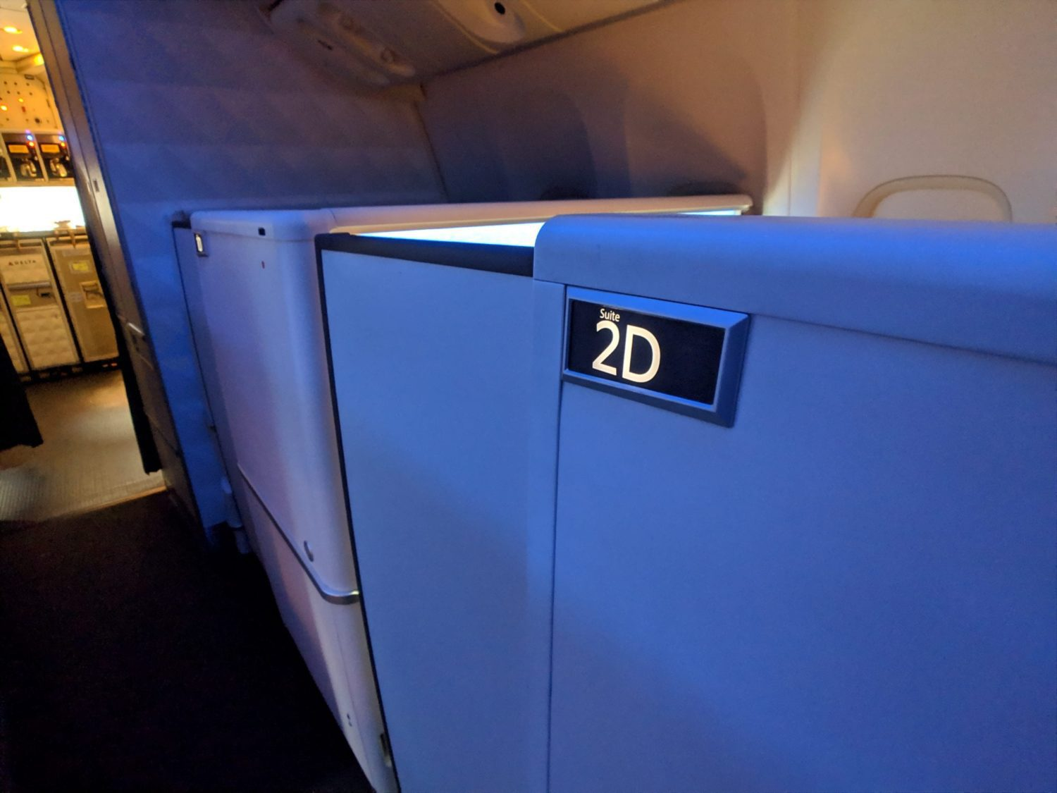 Delta One Suite review door
