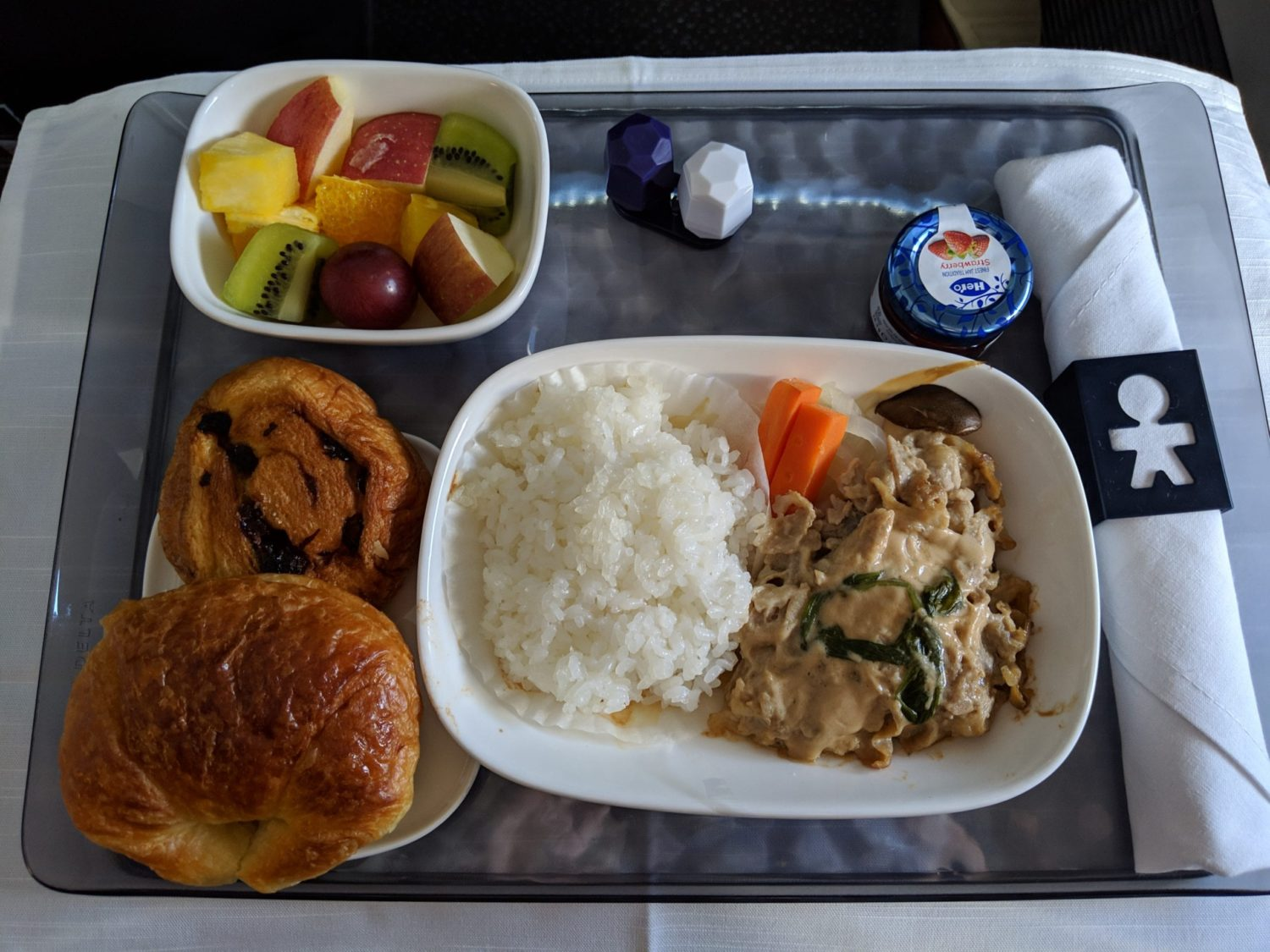 Delta One Suites meal