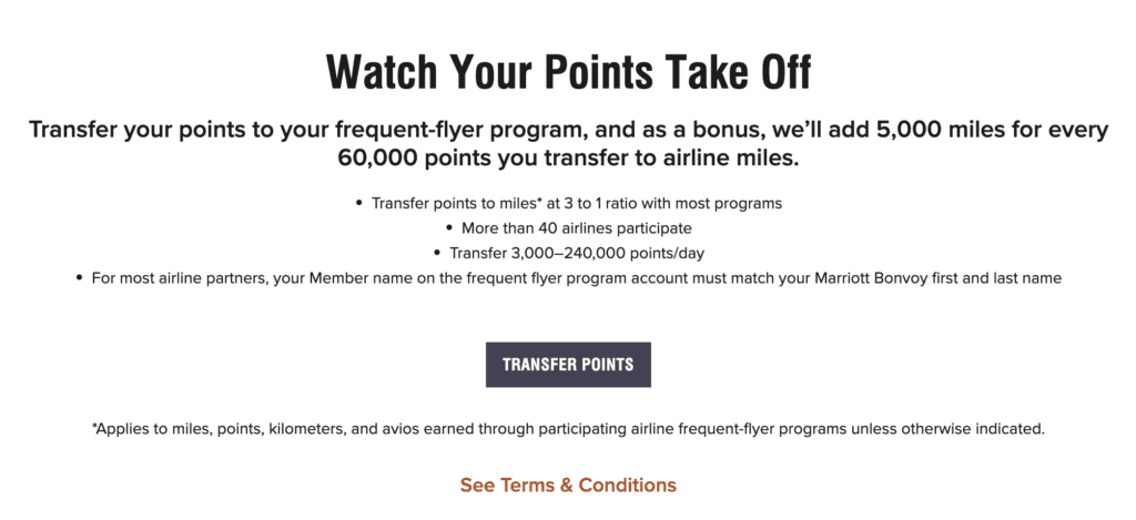 Earn Delta SkyMiles with Marriott transfers