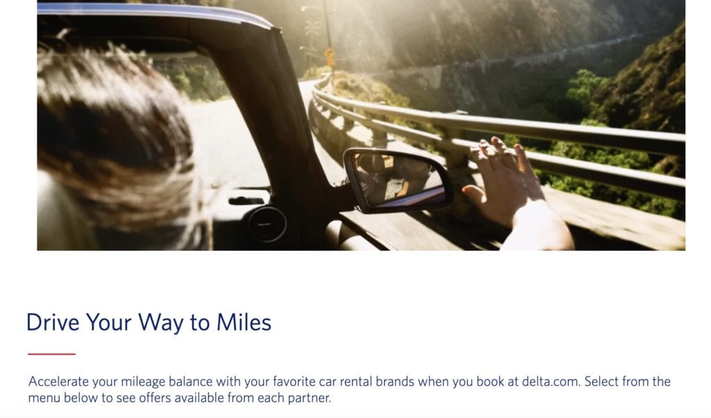 earn delta skymiles car rental