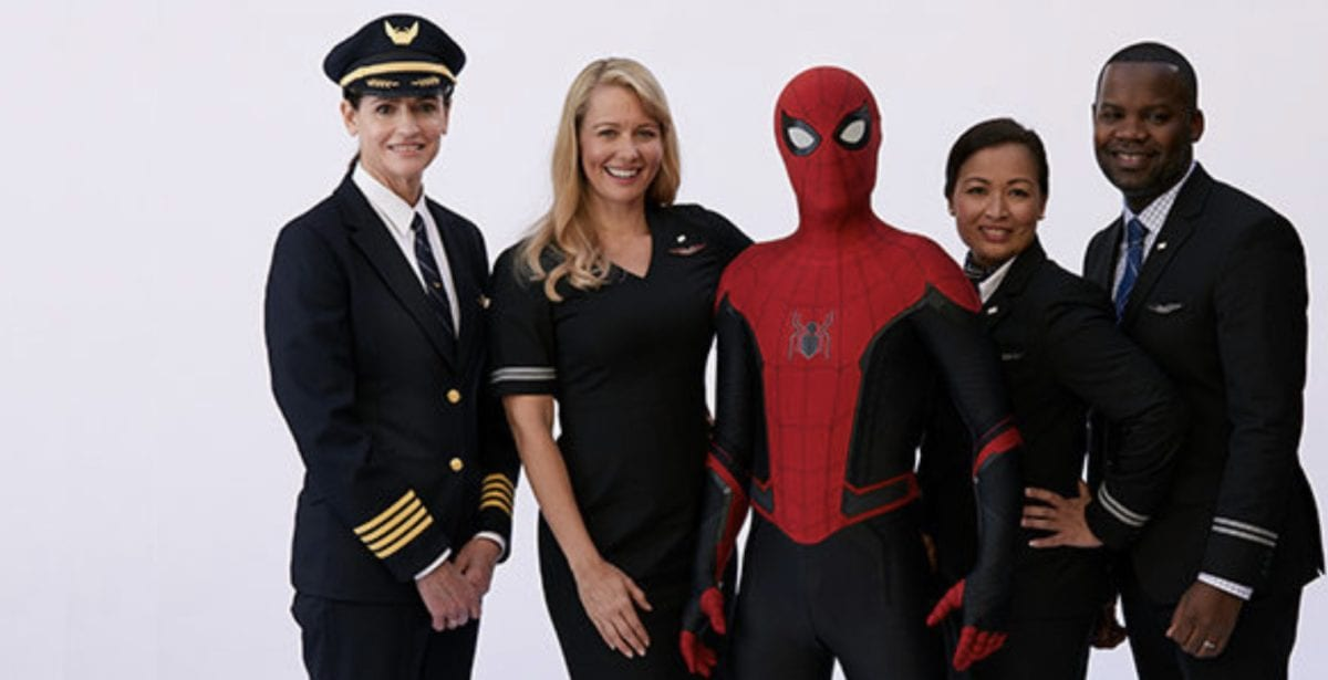 United Airlines spiderman