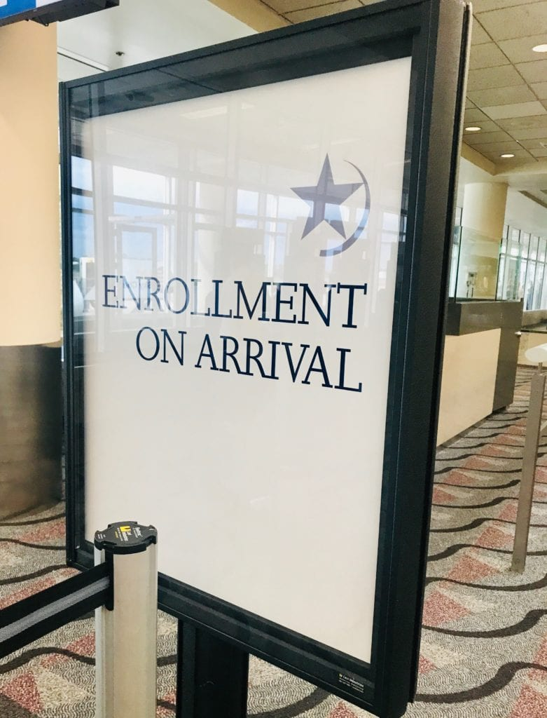 Global Entry Enrollment on arrival