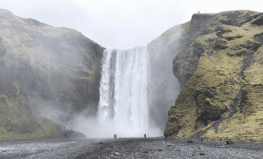 iceland ring road waterfall