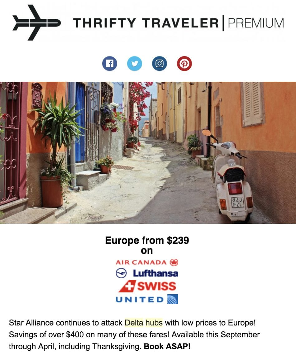 Cheap flights to Europe