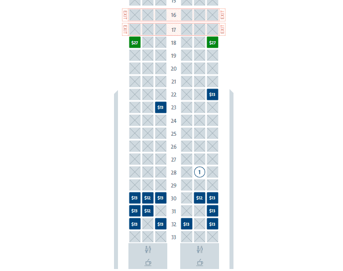 American seat map