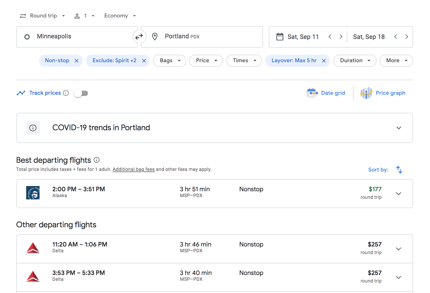 flight first rule save on airfare