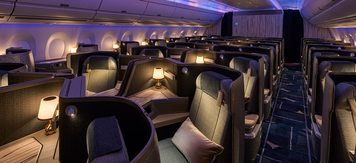china airlines business class cabin