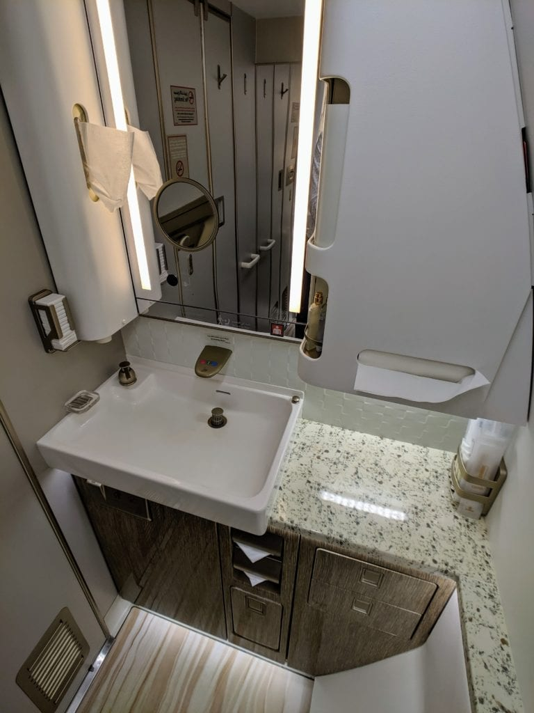 Emirates 777 First Class Bathroom