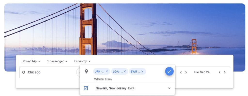 google flights multiple cities
