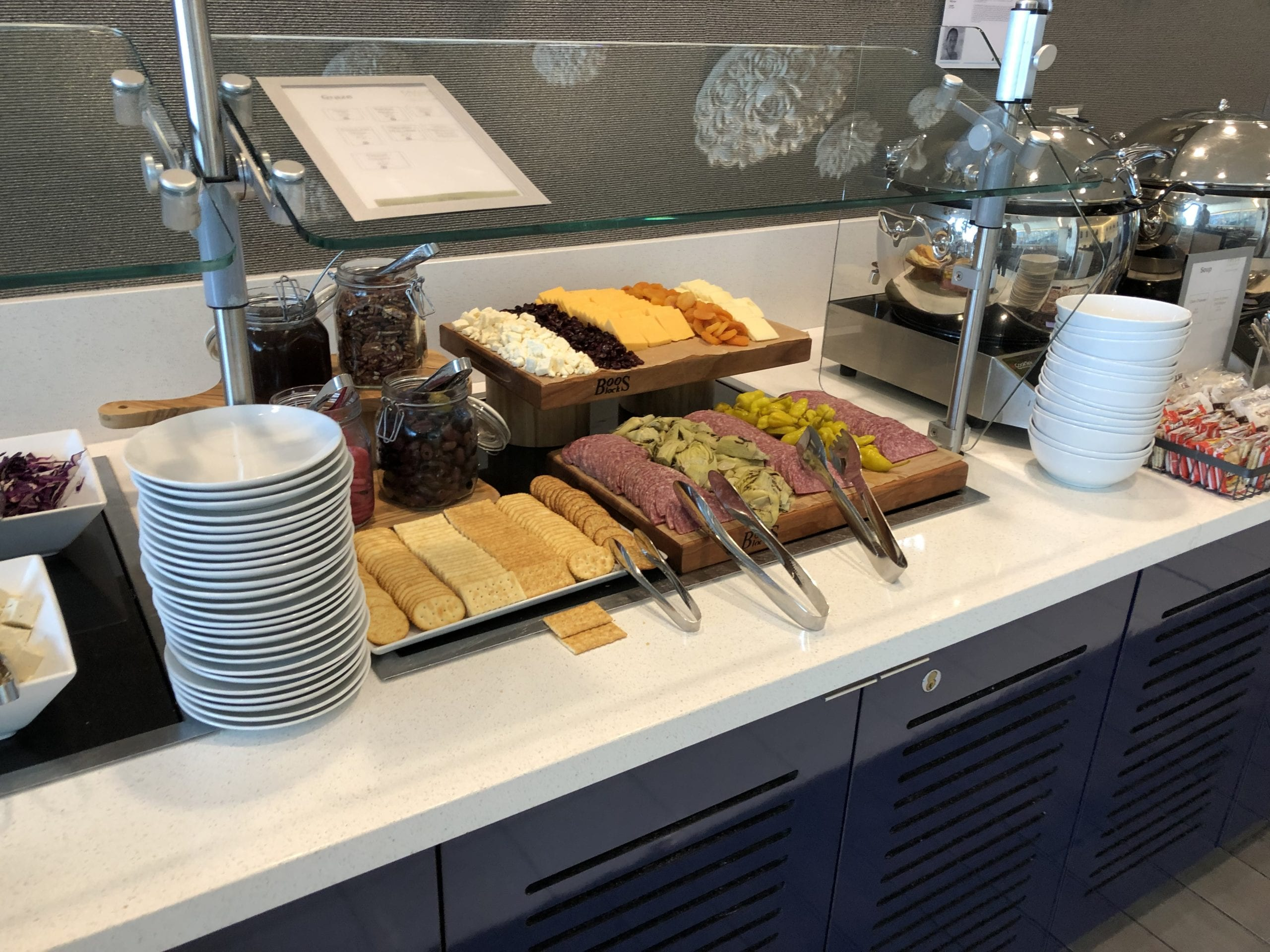 delta sky club san Francisco food