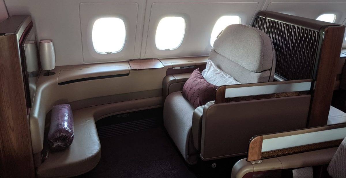 Alone Up Front: Qatar Airways First Class Review, Doha to Guangzhou