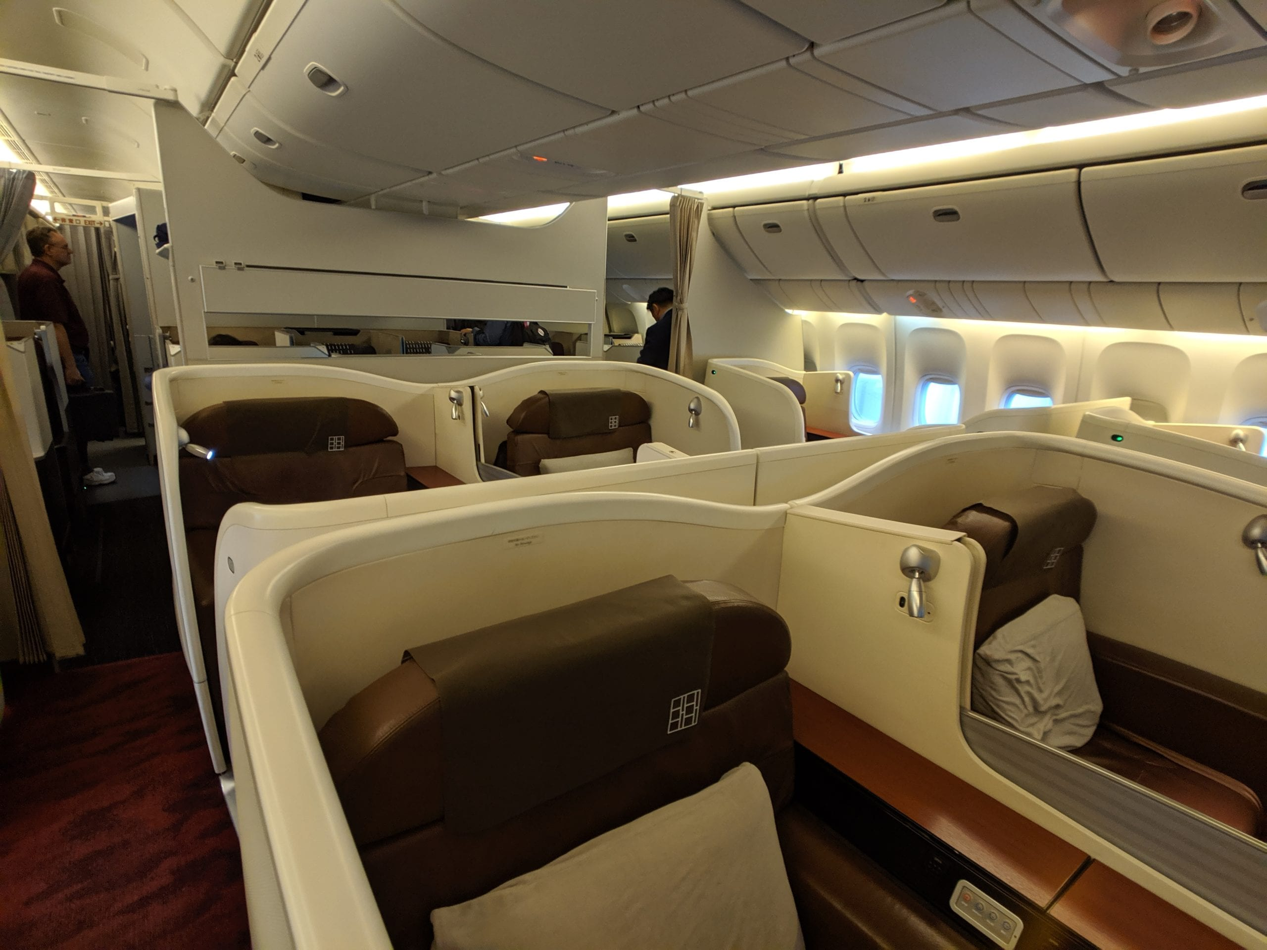 japan airlines first class cabin