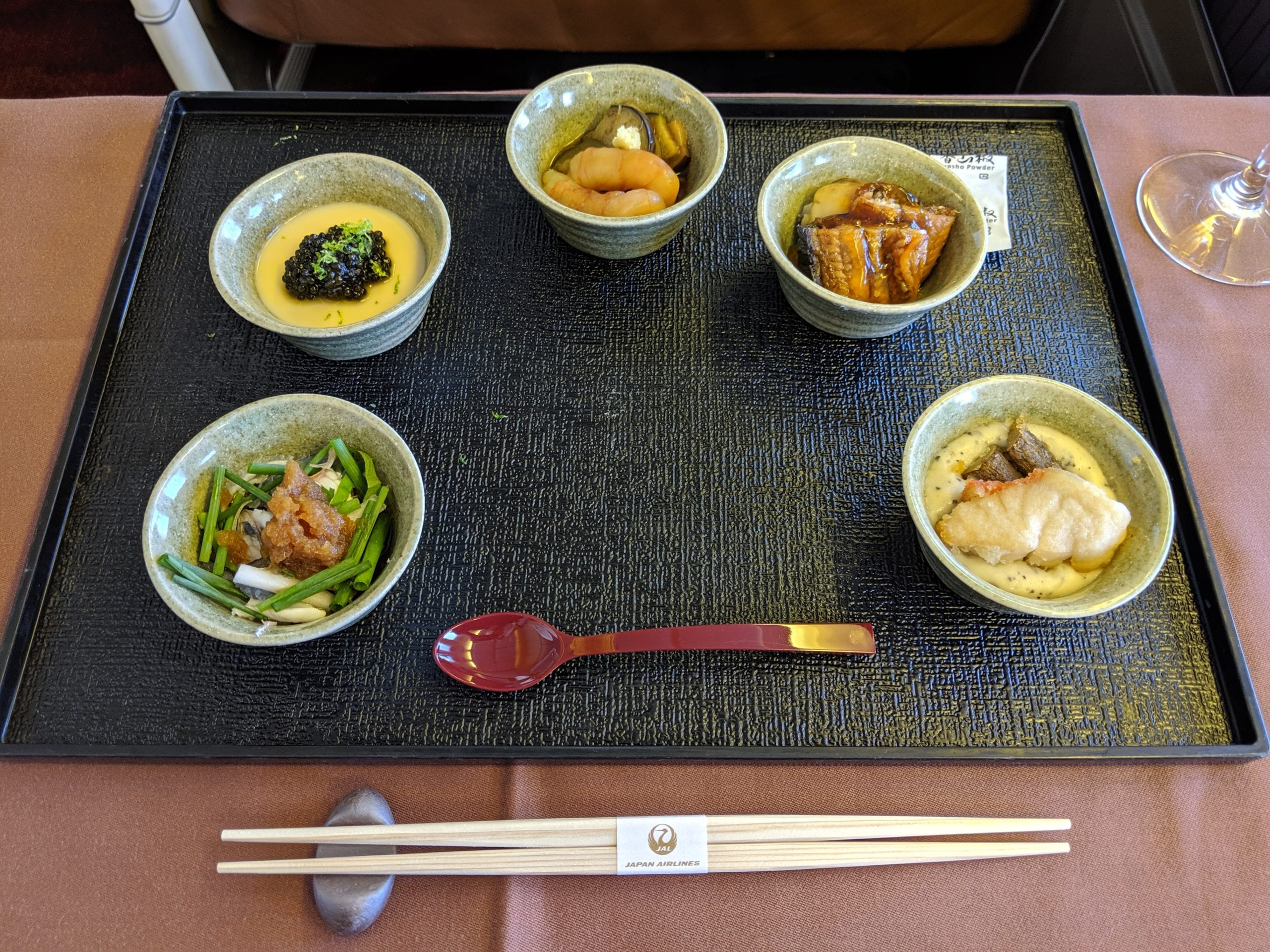 japan airlines first class meal