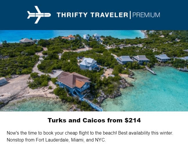 winter vacation turks and caicos