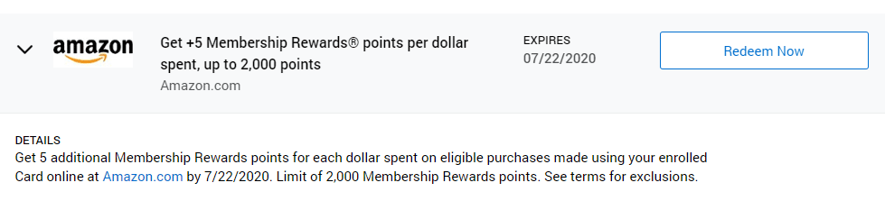 amex offer amazon