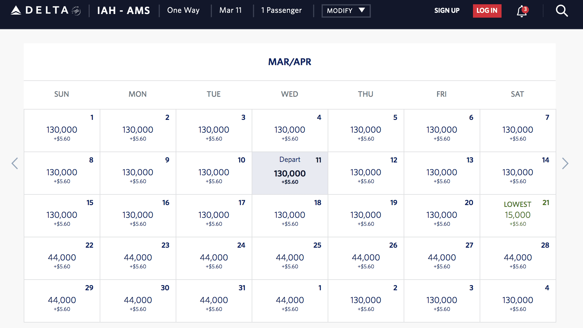 skymiles results