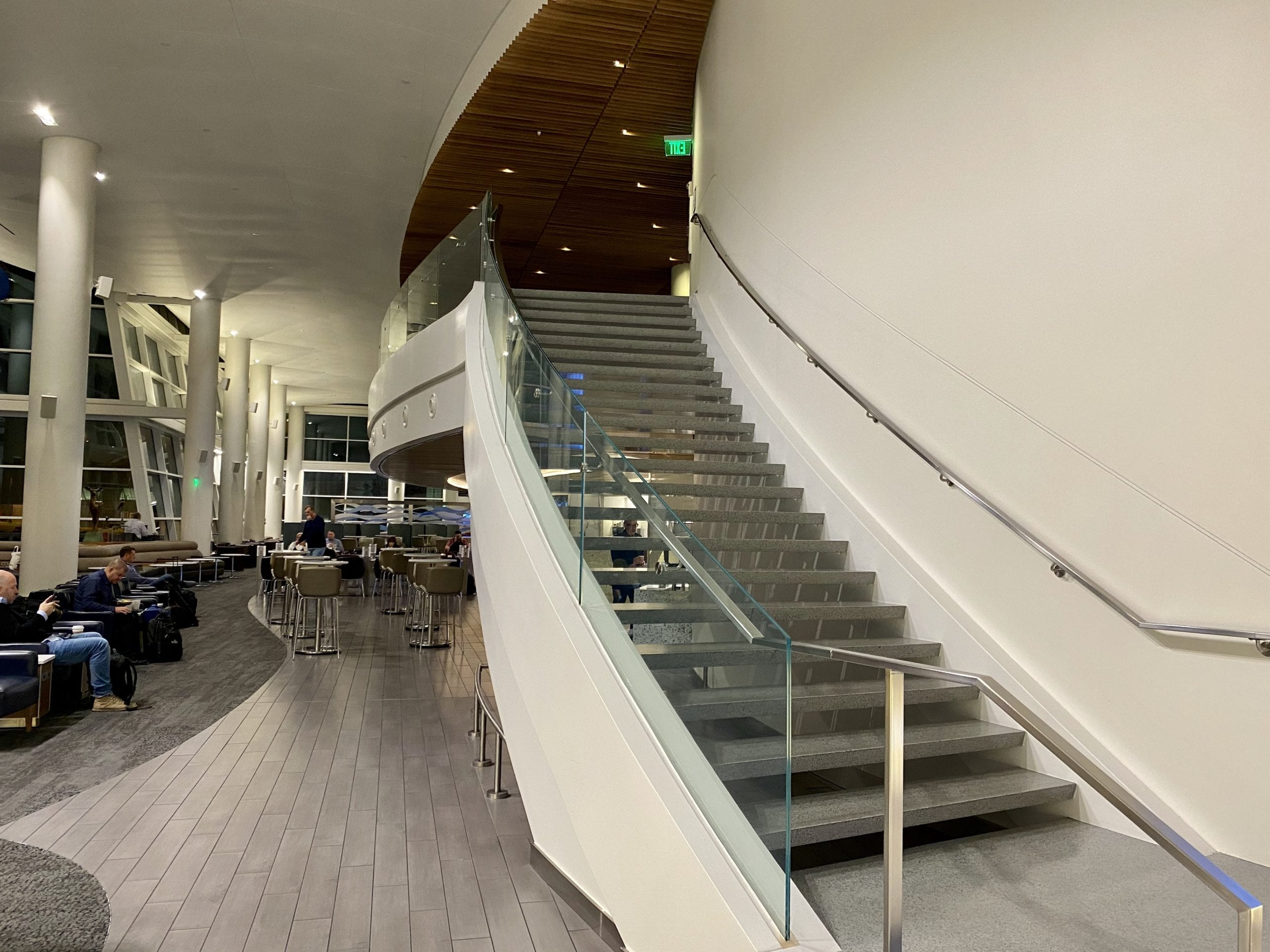 stairs delta sky club seattle