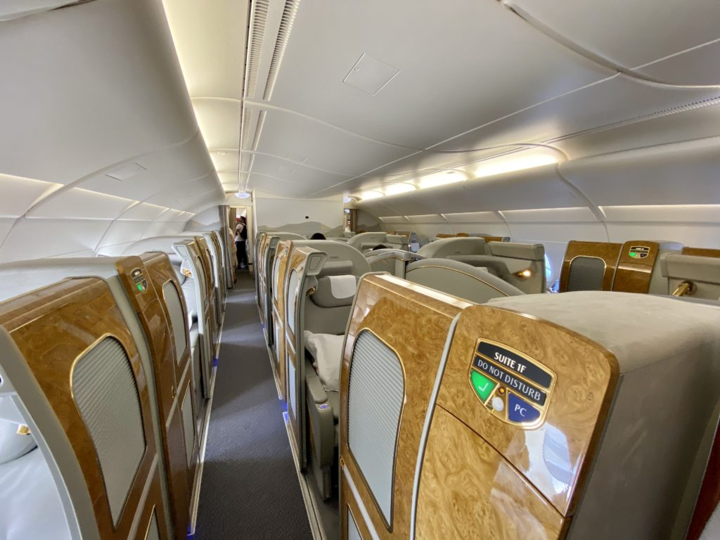 Emirates First Class boarding