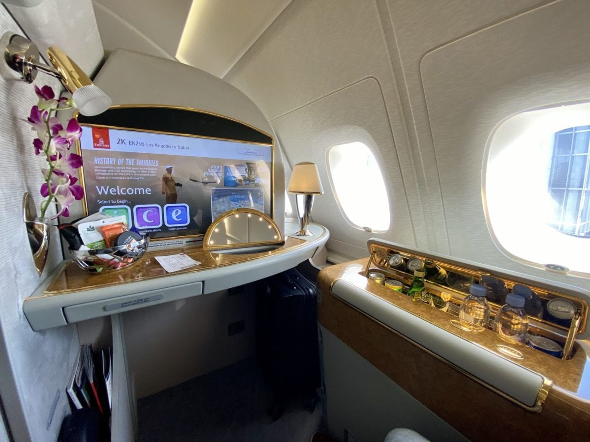 Flight Review: Emirates First Class A380 Los Angeles to Dubai