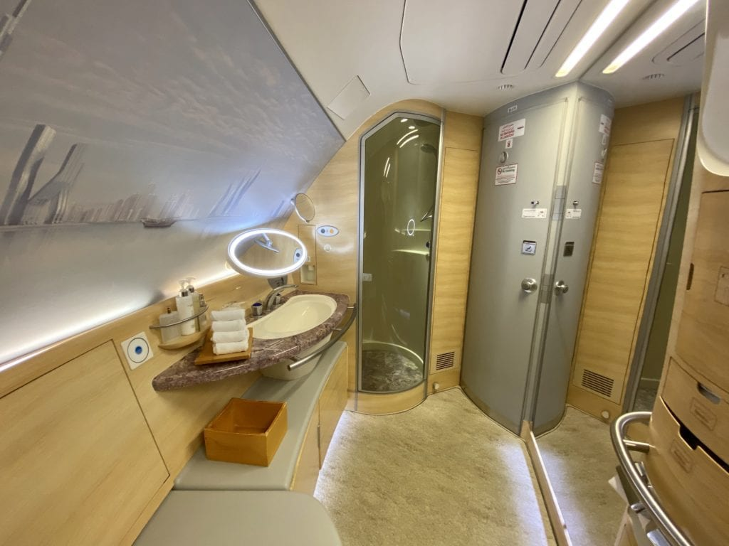 Emirates First Class shower