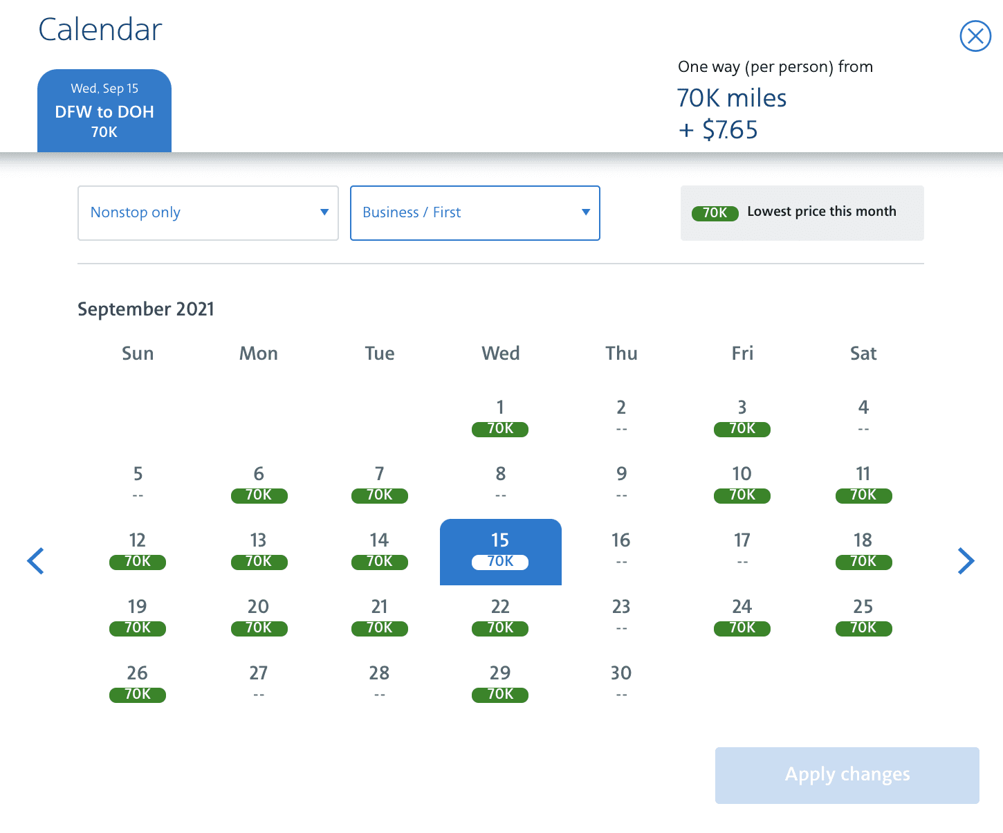 American airlines aadvantage search