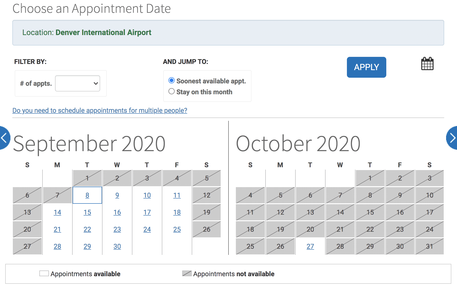 global entry interview schedule
