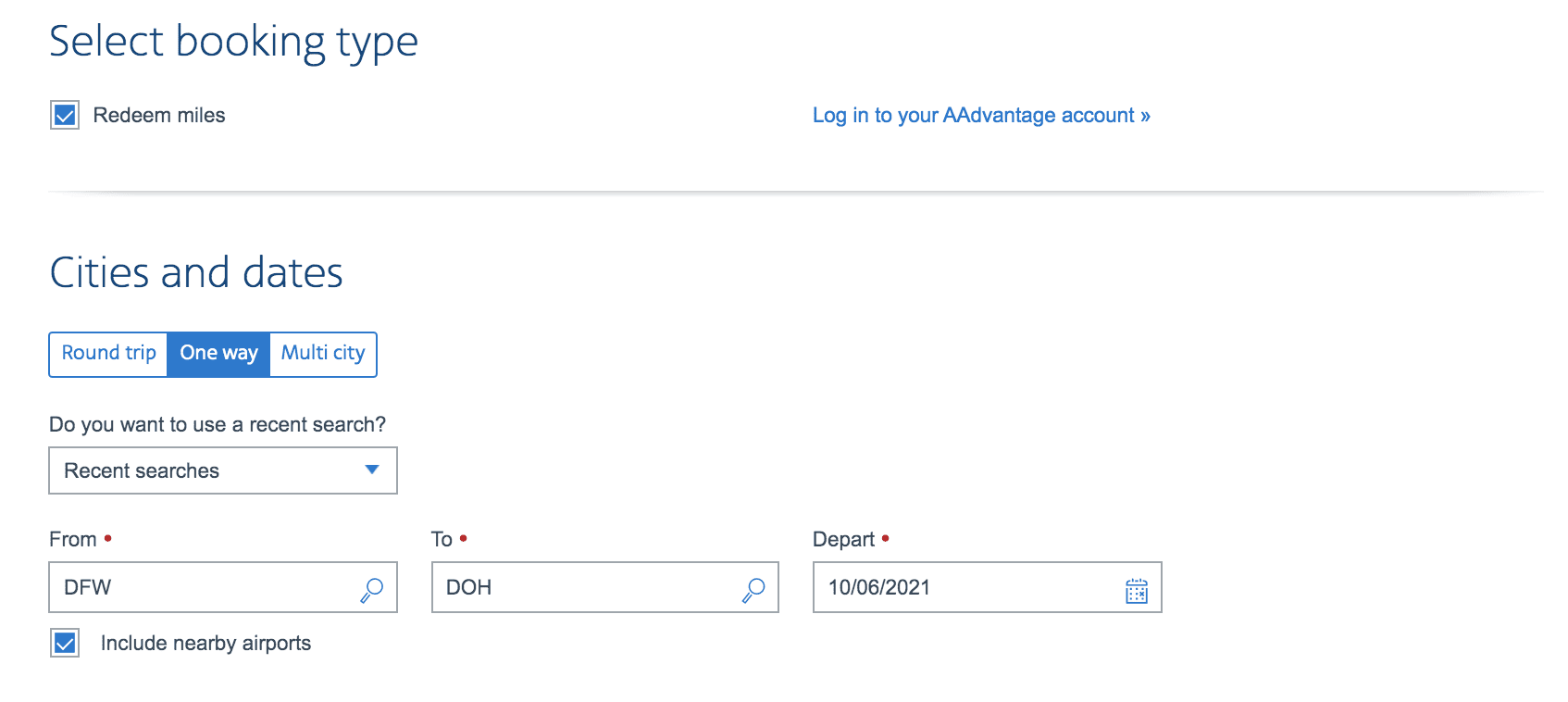 aa award search qsuites availability