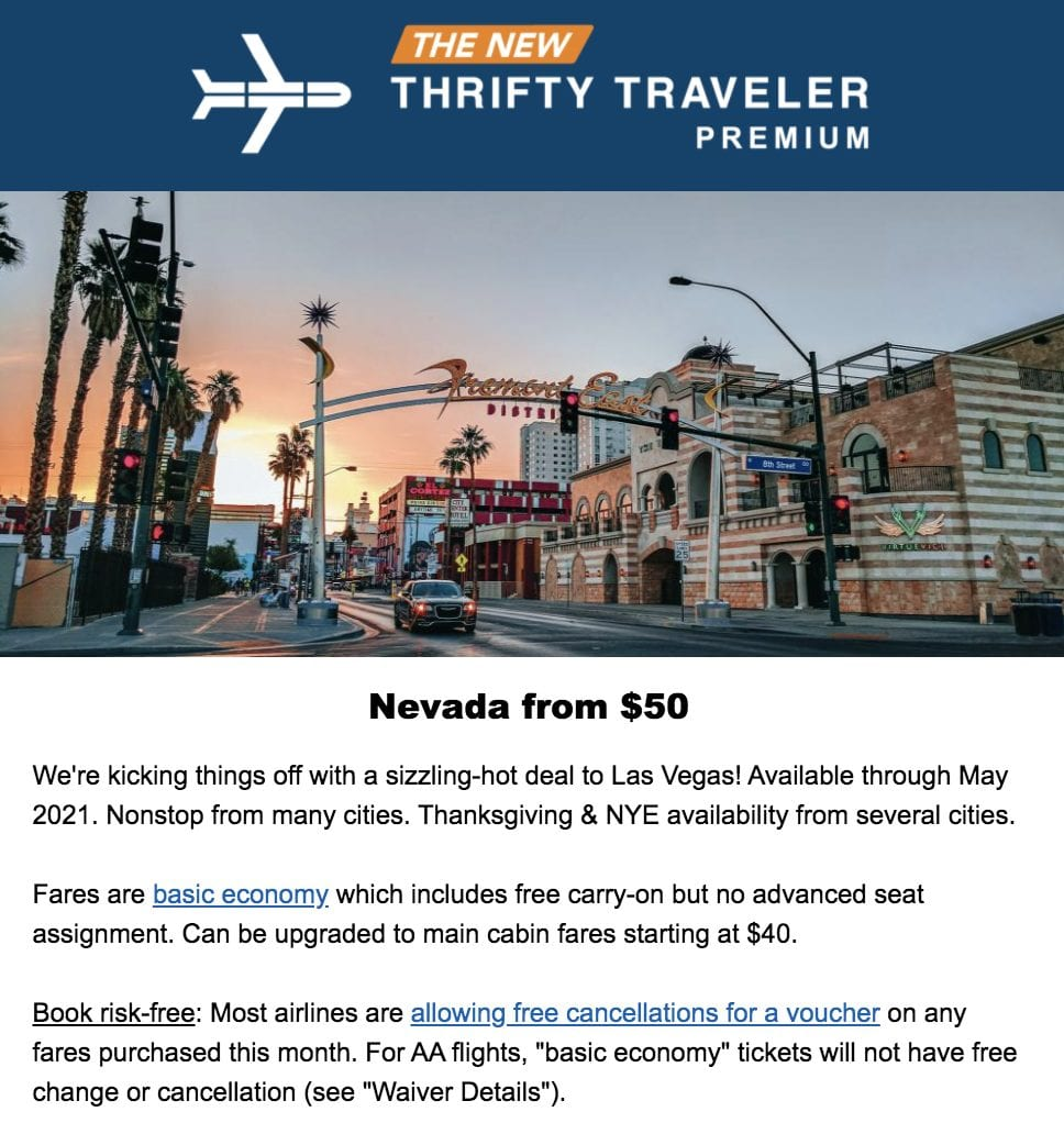 thrifty traveler domestic
