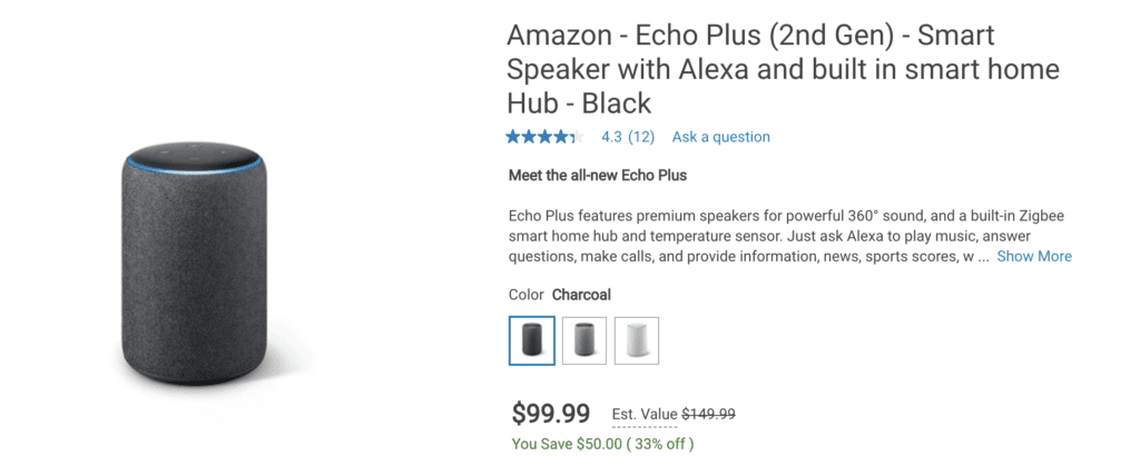 amex platinum dell credit amazon echo