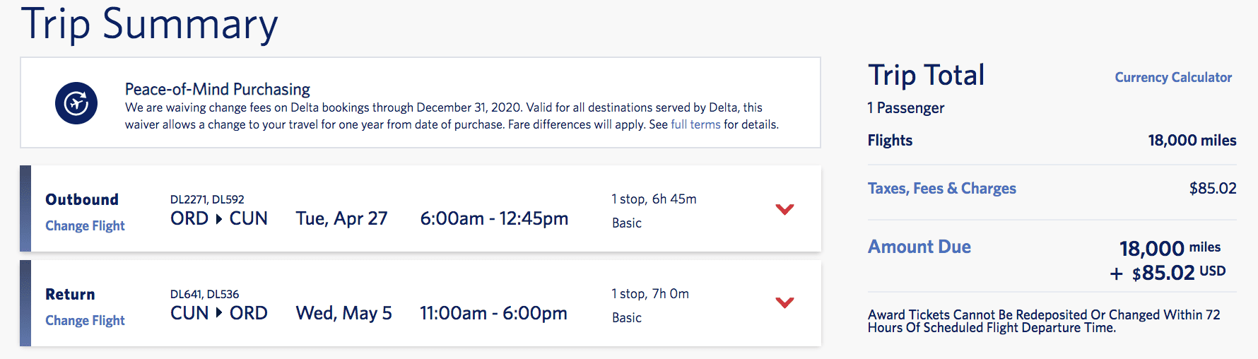 skymiles flash sale Mexico Chicago to cancun