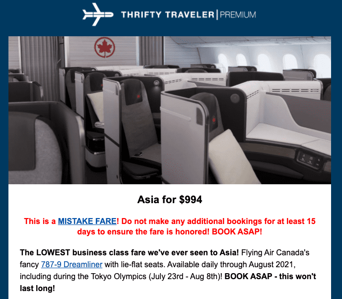 2021 flight deals