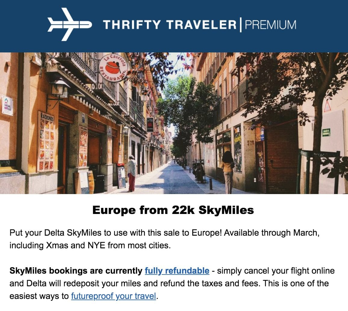 skymiles flash sale europe points and miles