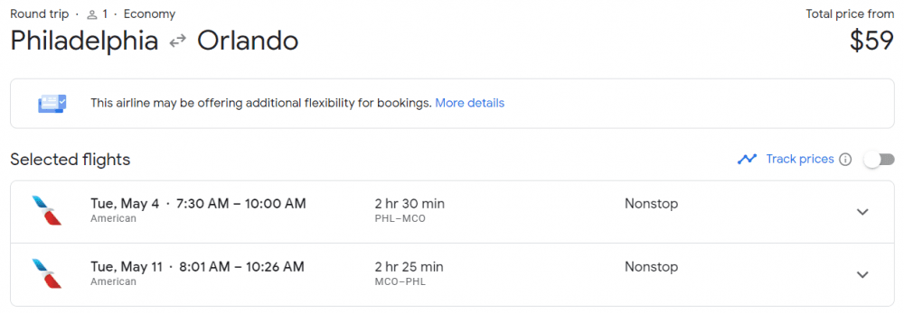 flight to Orlando book now travel later