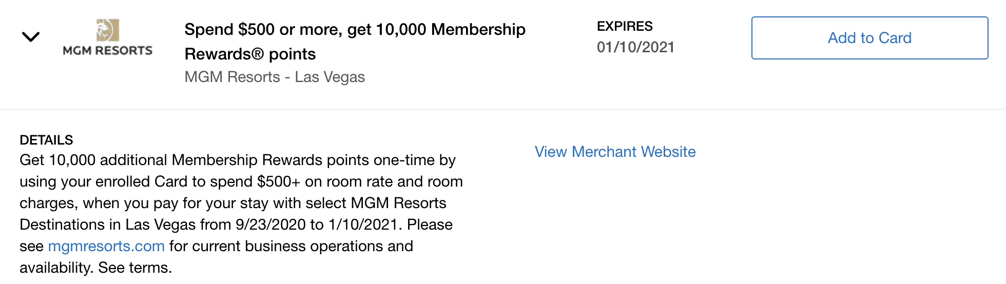 amex offers hotels
