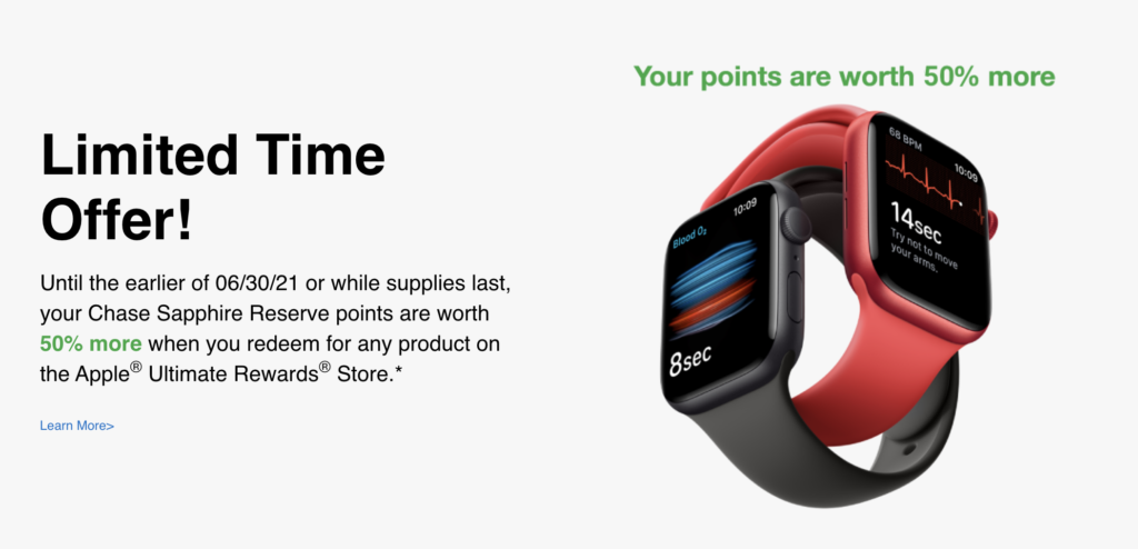 chase points to buy apple