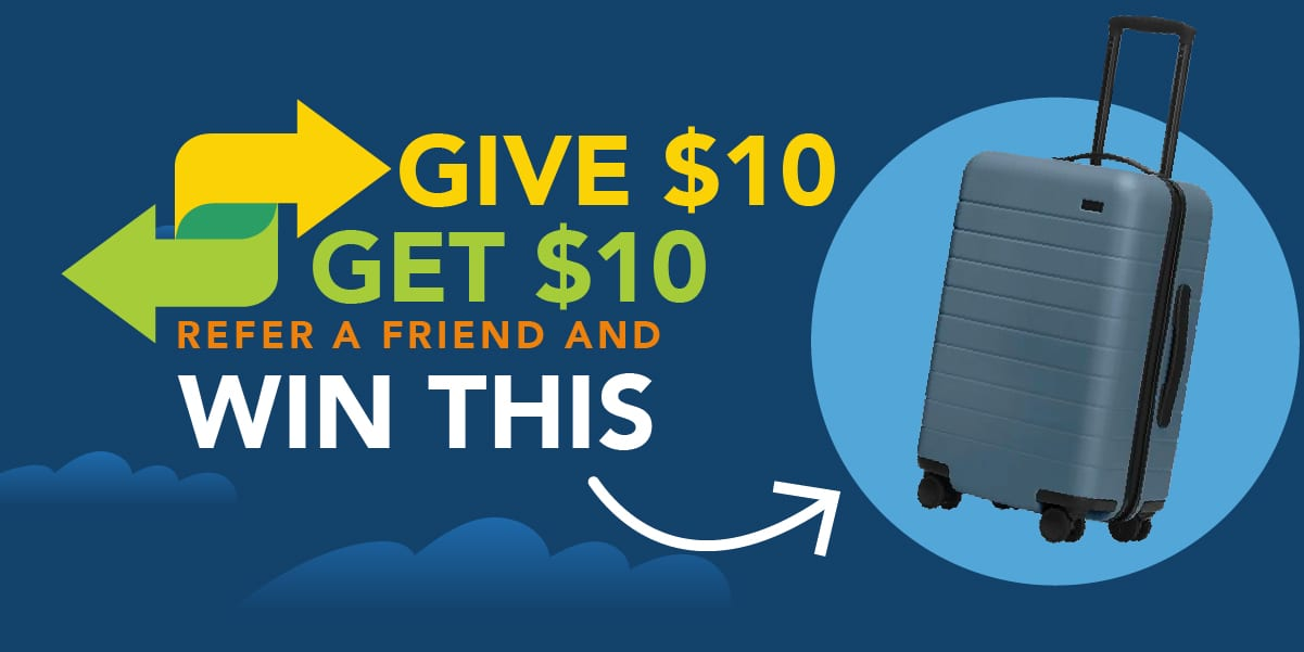 Refer Friends to Thrifty Traveler Premium For a Chance to Win an Away Bag!