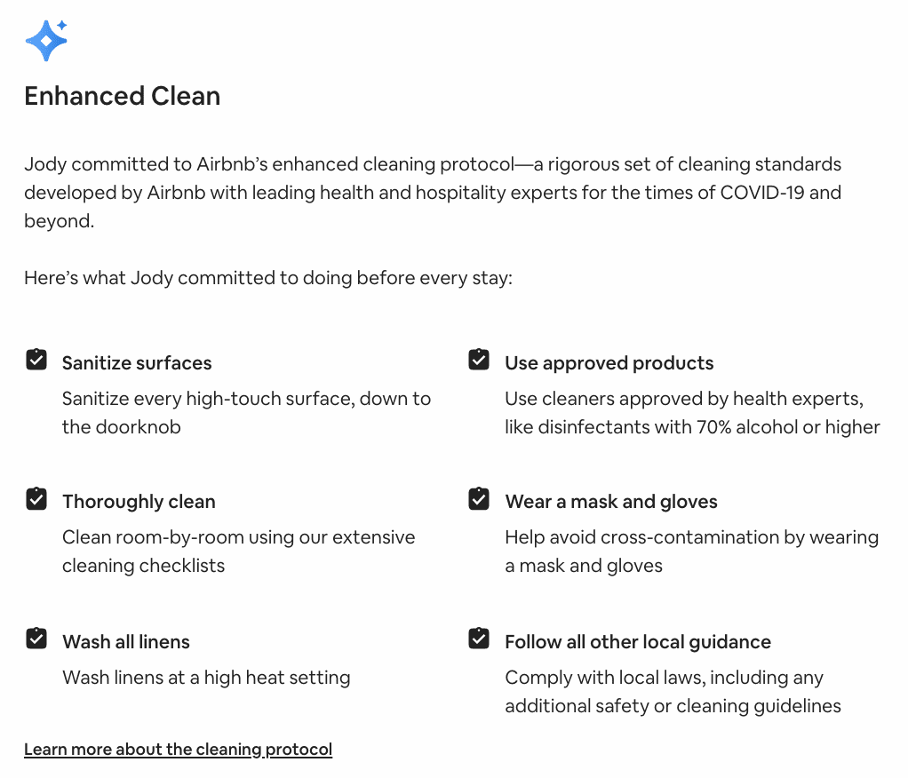 airbnb vs hotels cleaning policies