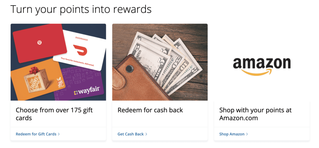 chase ultimate rewards gift cards